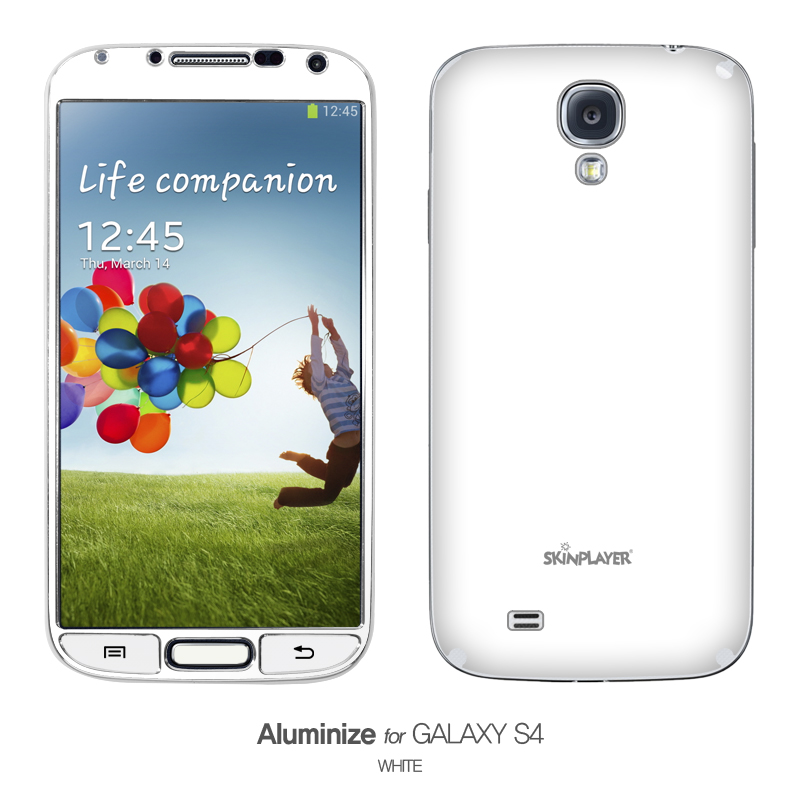 Aluminize for Galaxy S4 ホワイト