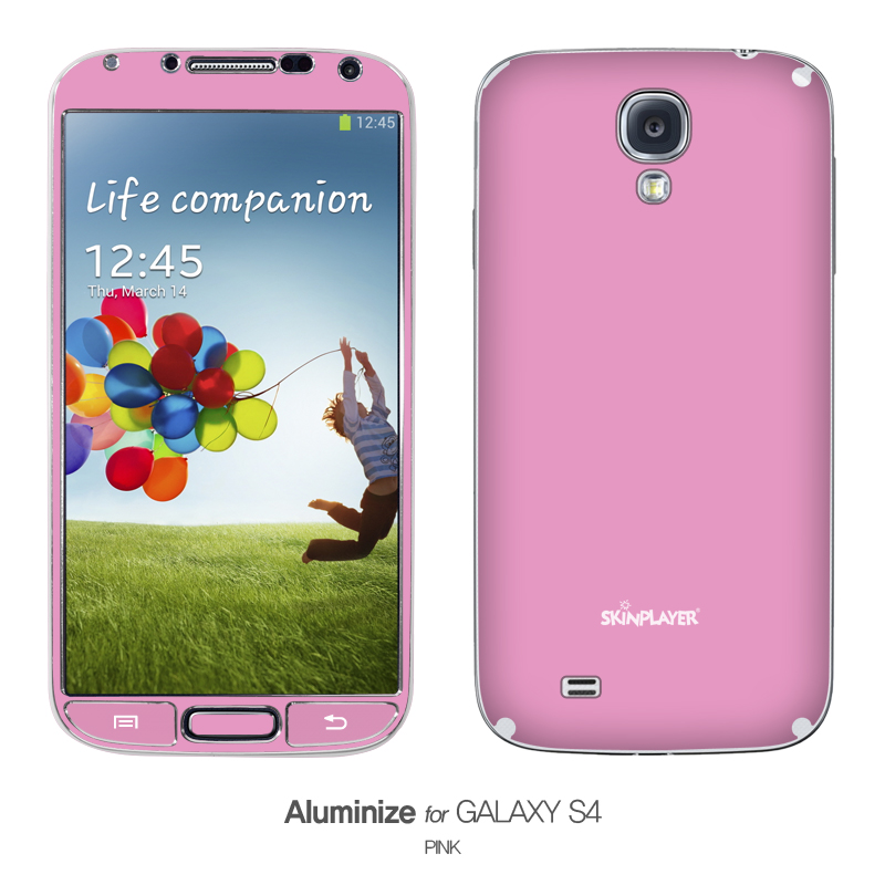 Aluminize for Galaxy S4 ピンク