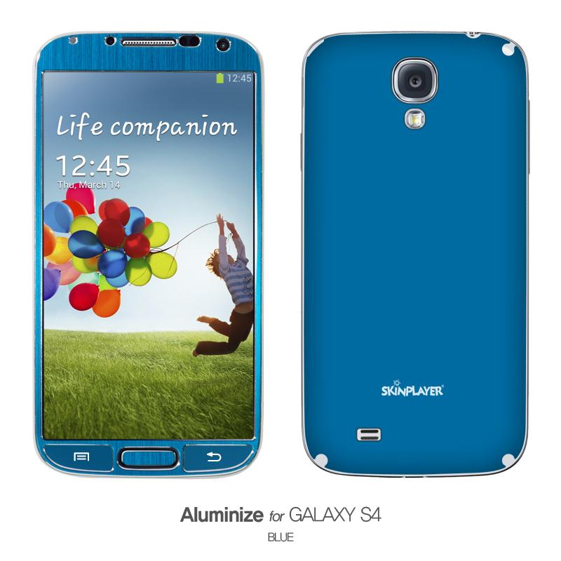 Aluminize for Galaxy S4 ブルー
