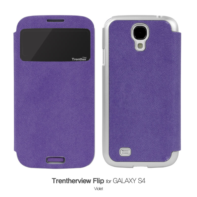 Trenther View Flip for Galaxy S4 パープル