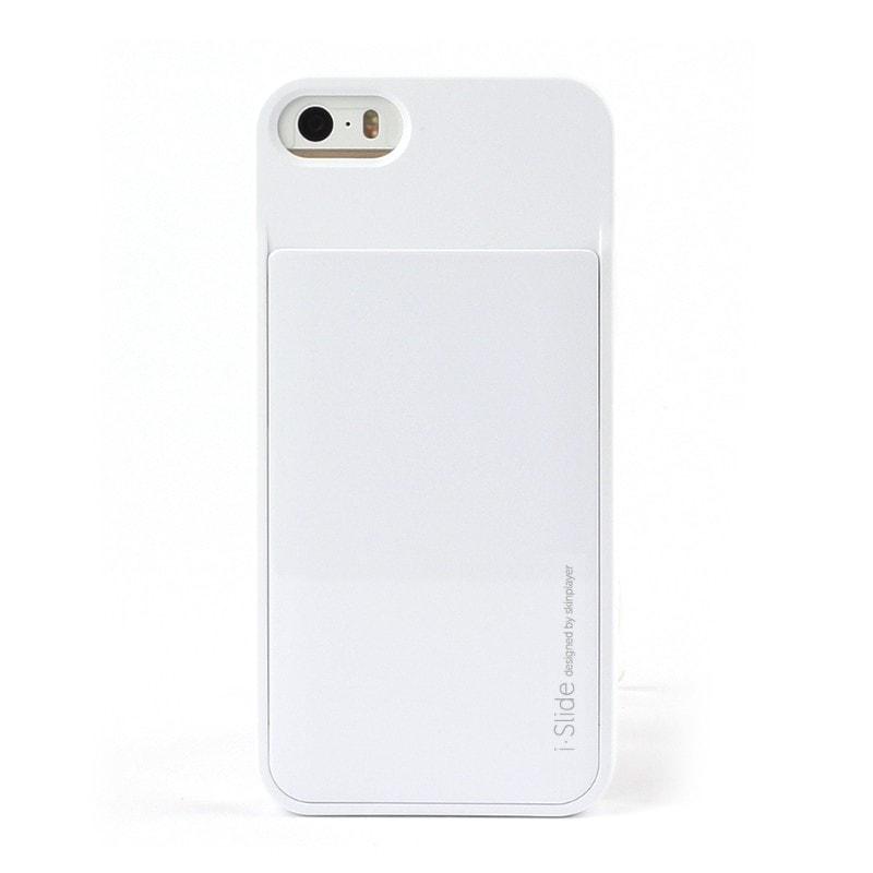iPhone SE/5S/5対応 カード収納薄型ケース iSlide White + White