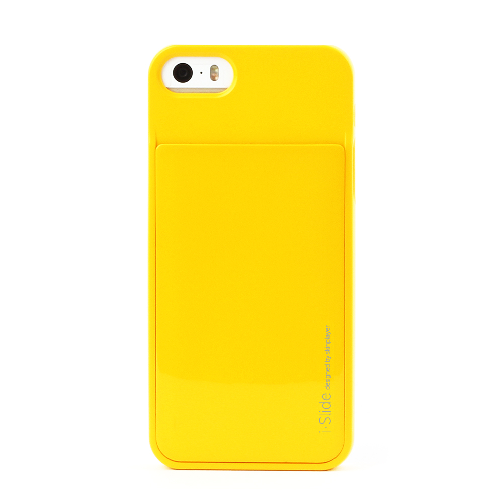 iPhone SE/5S/5対応 カード収納薄型ケース iSlide Yellow + Yellow