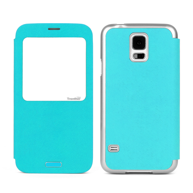 Trenther View Smart Flip for Galaxy S5 Emerald Green