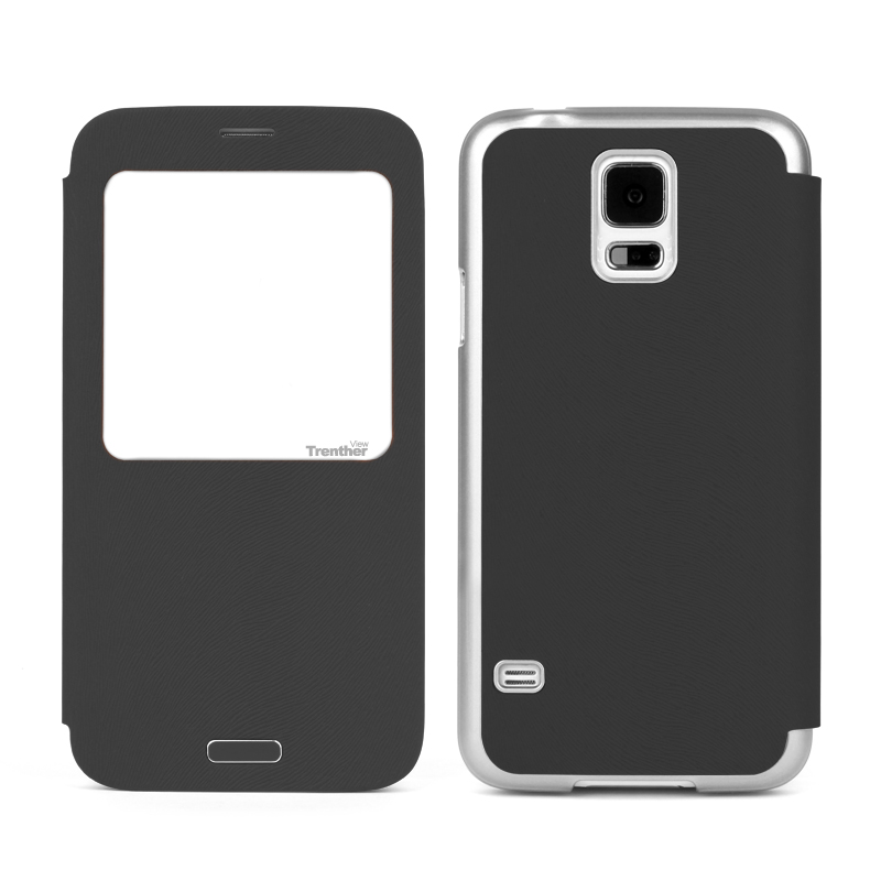 Trenther View Smart Flip for Galaxy S5 Gray