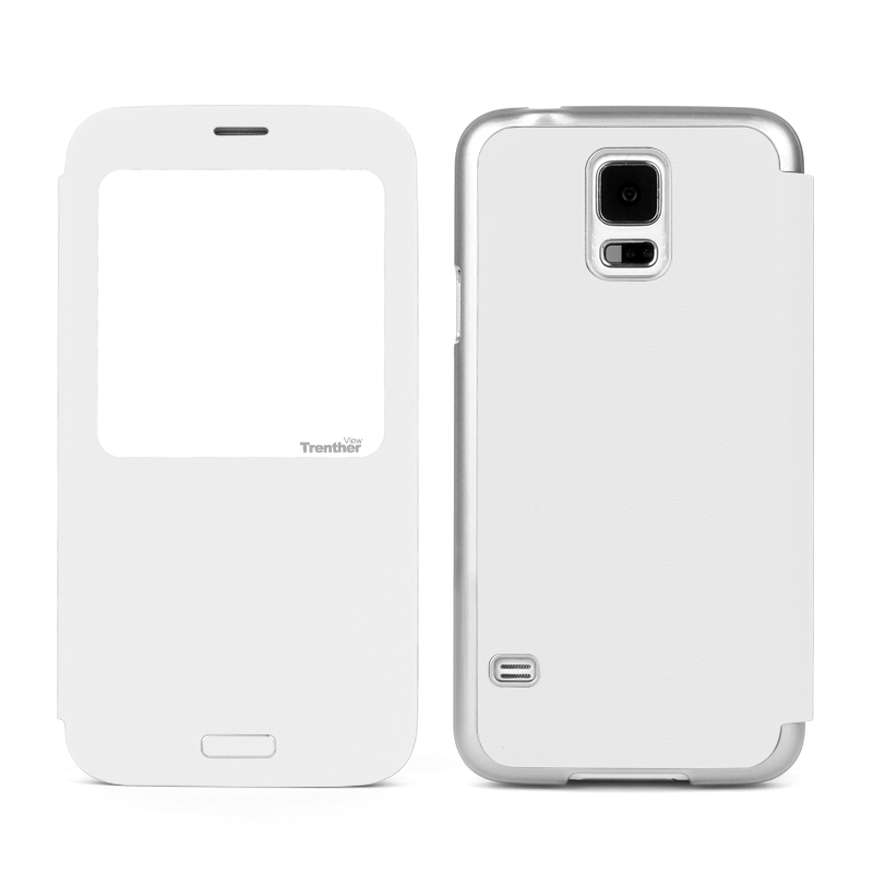 Trenther View Smart Flip for Galaxy S5 White
