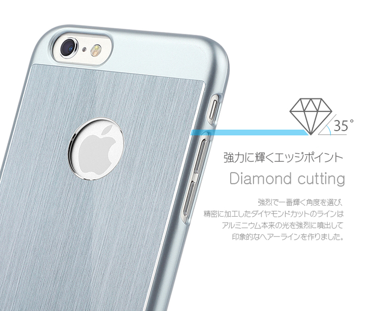 iPhone 6 [iFit PAC] ハード&アルミケース Transparent / Titanum
