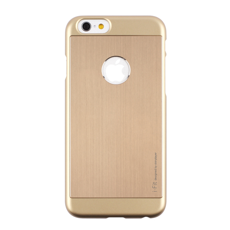 iPhone 6_6S [iFit PAC] ハード&アルミケース Gold / Gold
