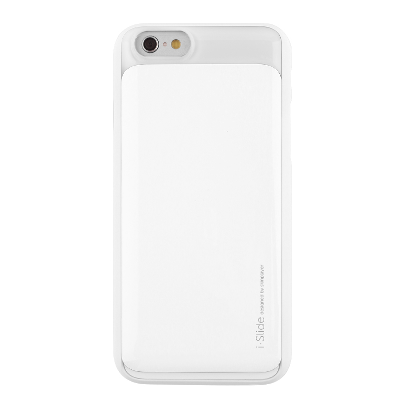 iPhone 6 [iSlide] カード収納型ハードケース White / White