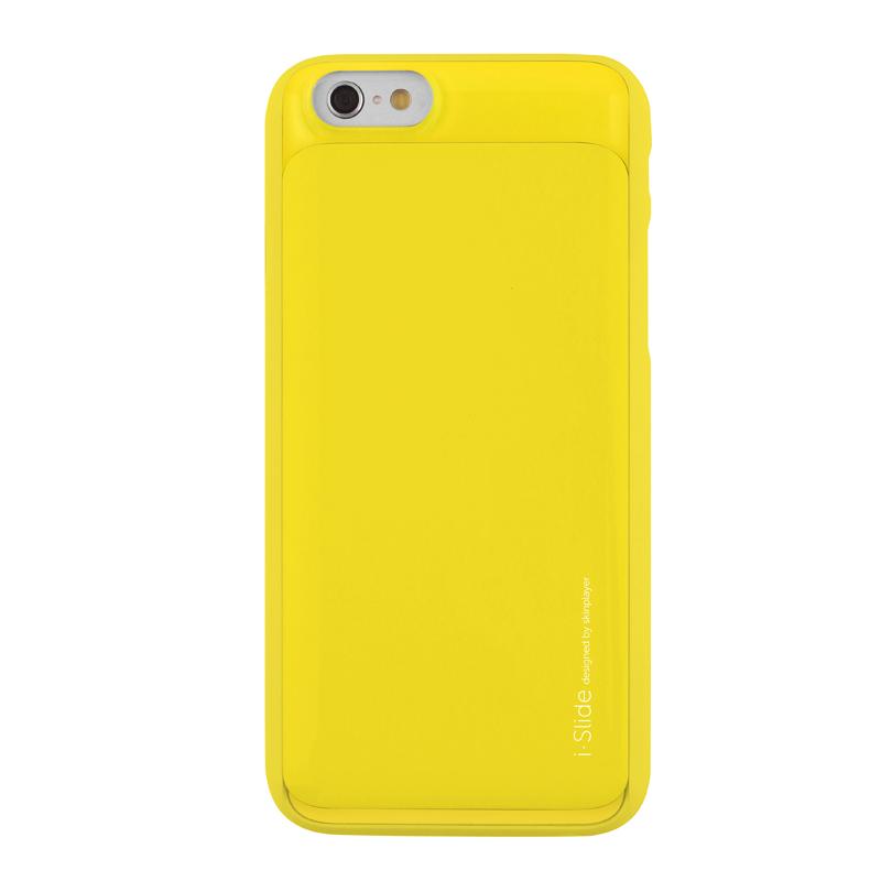 iPhone 6 [iSlide] カード収納型ハードケース Yellow / Yellow