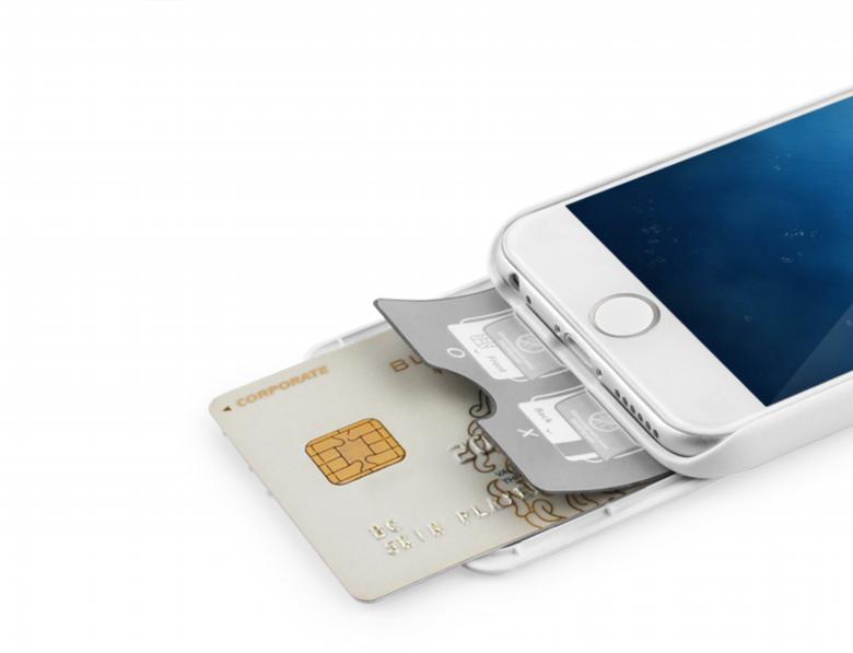 iPhone 6 [iSlide] カード収納型ハードケース Orange / Orange