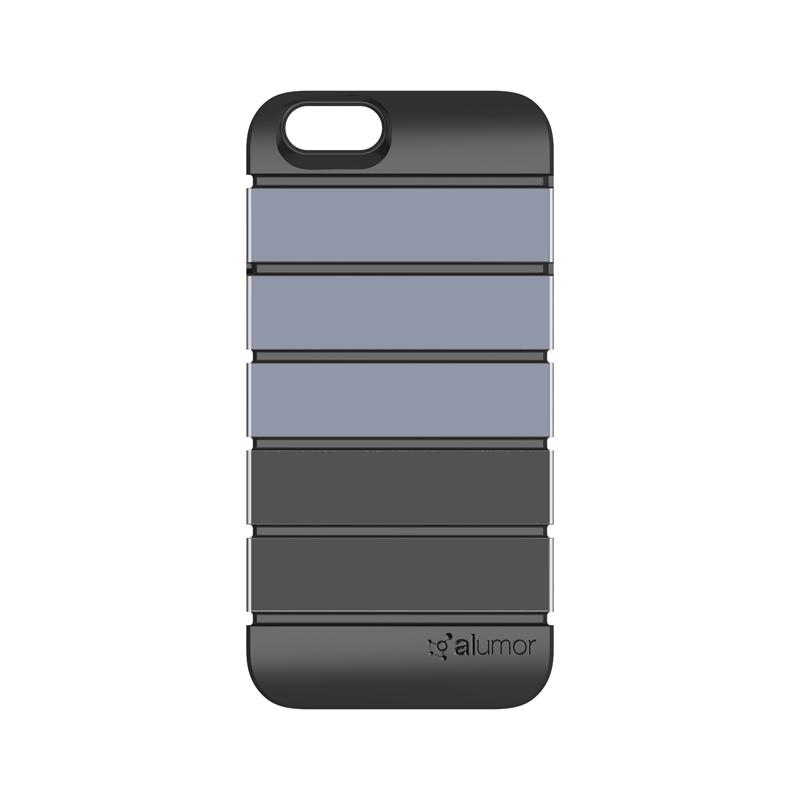 iPhone 6_6S [Alumor] ウレタン&アルミケース Gunmetal / Titanium