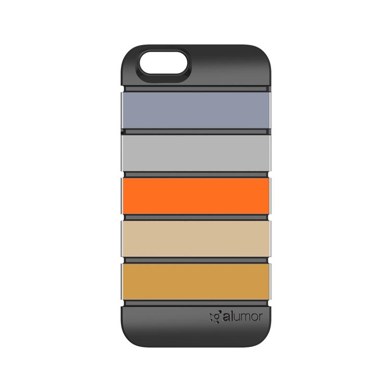 iPhone 6_6S [Alumor] ウレタン&アルミケース Gunmetal / Silver