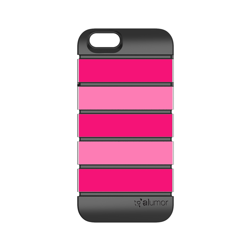 iPhone 6_6S [Alumor] ウレタン&アルミケース Pink / Baby Pink