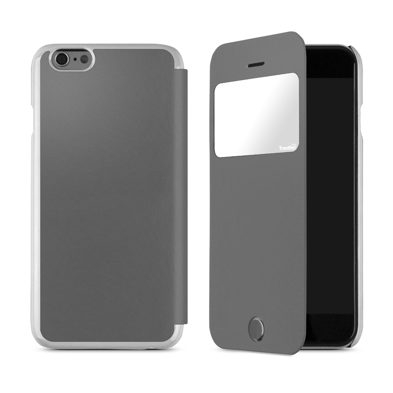 iPhone 6 [Trenther View Flip] PUレザーケース Gray