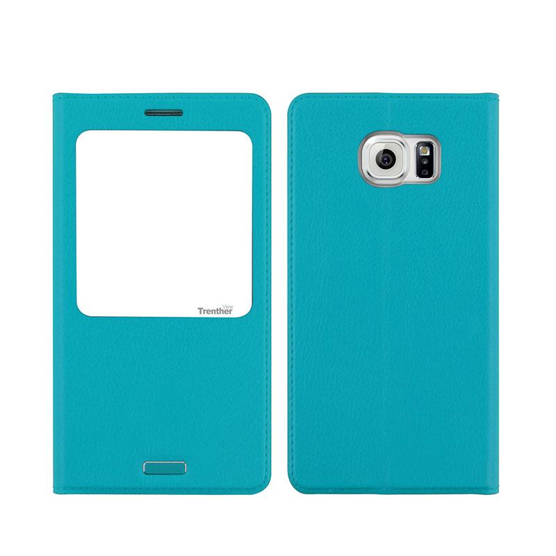 Galaxy S6 SC-05G [Trenther View Flip] PUレザーケース Emerald Green