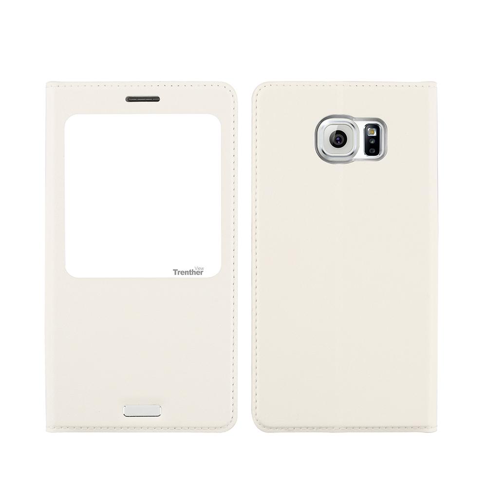 Galaxy S6 SC-05G [Trenther View Flip] PUレザーケース White