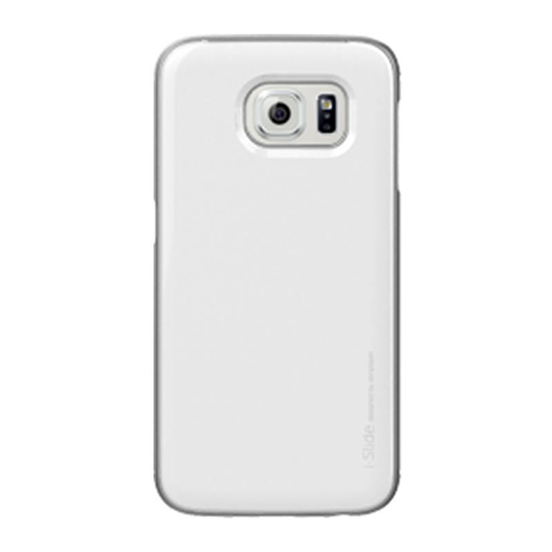 Galaxy S6 edge SC-04G/SCV31 [iSlide] カード収納型ハードケース White / White