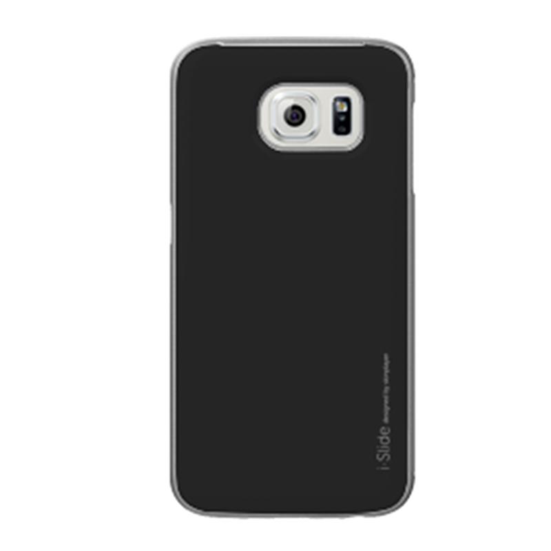 Galaxy S6 edge SC-04G/SCV31 [iSlide] カード収納型ハードケース Black / Black
