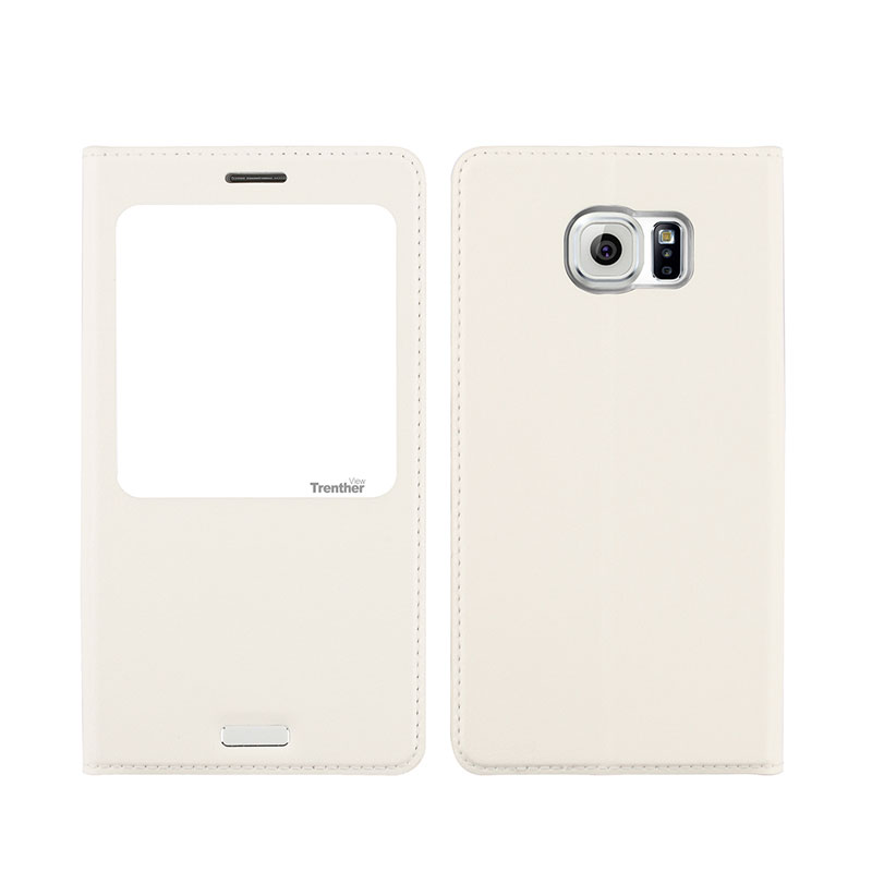 Galaxy S6 edge SC-04G/SCV31 [Trenther View Flip] PUレザーケースWhite