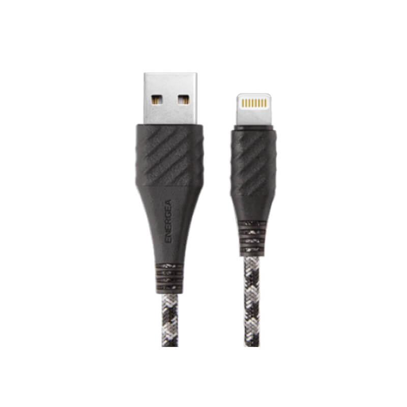【MFI認定】【10年保証】スマートフォン(汎用)/NyloXtreme Combat/Charge & Sync Tough Lightning Cable 1.5m, WINTER(ブラック)