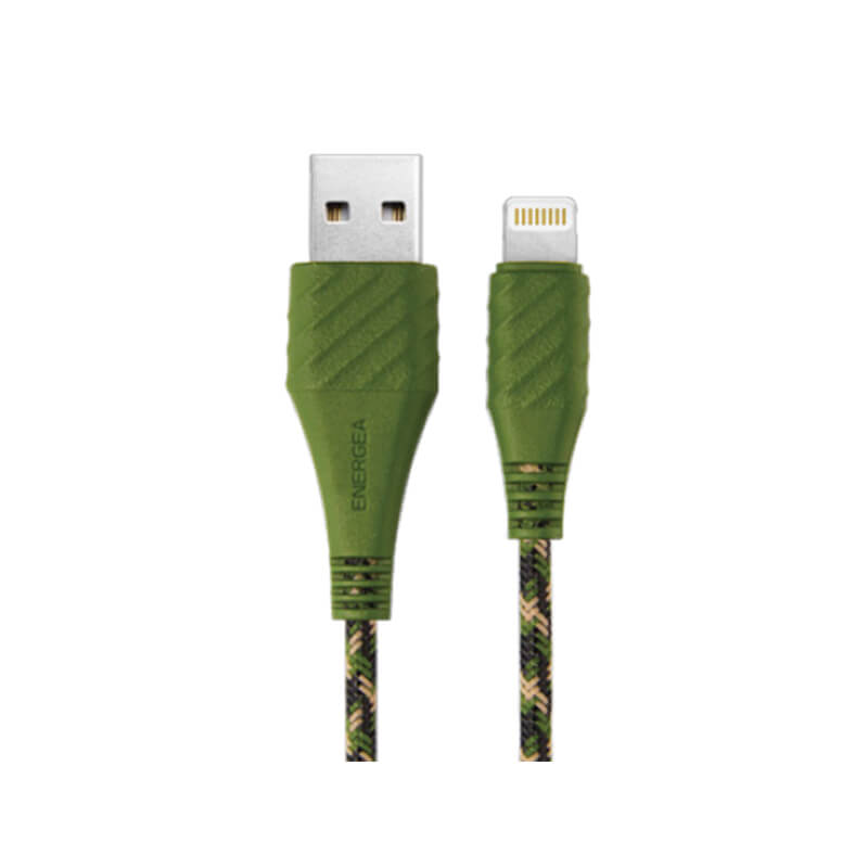 【MFI認定】【10年保証】スマートフォン(汎用)/NyloXtreme Combat/Charge & Sync Tough Lightning Cable 1.5m, GROUND(グリーン)
