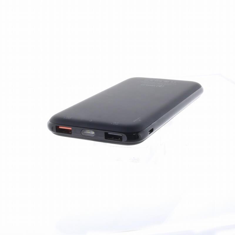 スマートフォン(汎用)/SlimPac/10,000mah/Smart Fast Charge 3.0(ブラック)