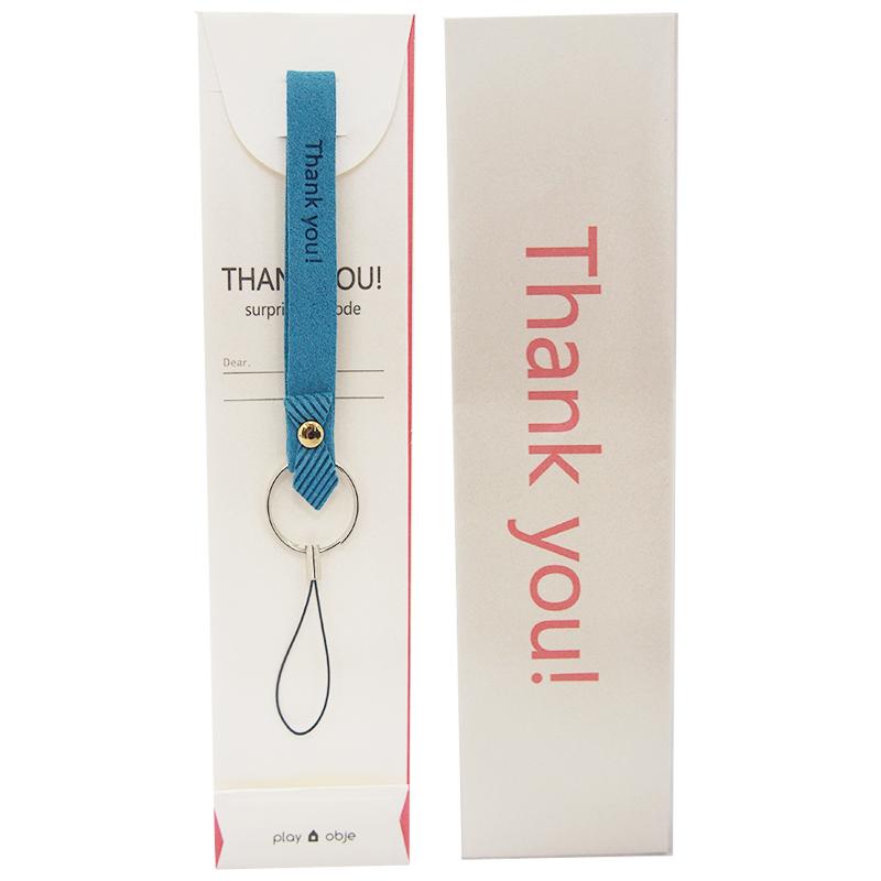 スマートフォン(汎用) ハンドストラップ「Thank you! Strap」 ブルー