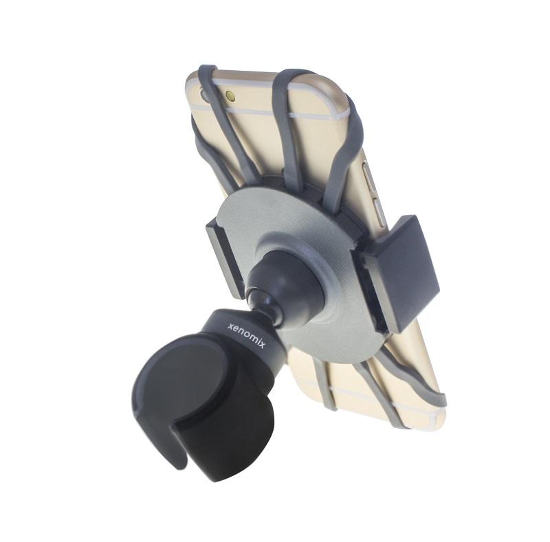 スマートフォン(汎用) 多機能スマートフォンホルダー「xenomix to Bike」 ブラック