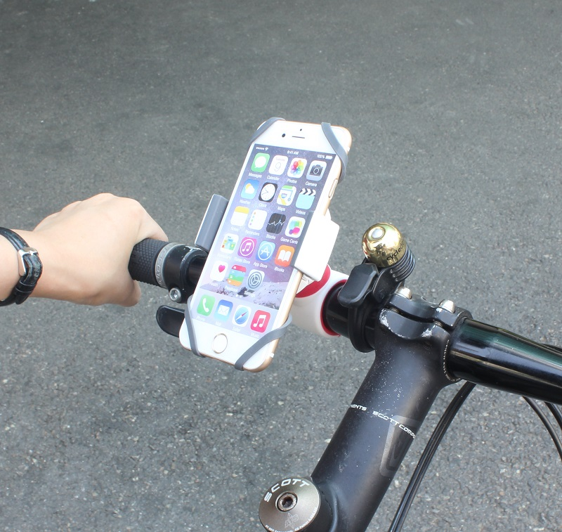 スマートフォン(汎用) 多機能スマートフォンホルダー「xenomix to Bike」 ホワイト