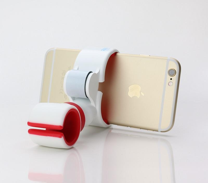 スマートフォン(汎用) 多機能スマートフォンホルダー「xenomix Grab」 ホワイト/グレー