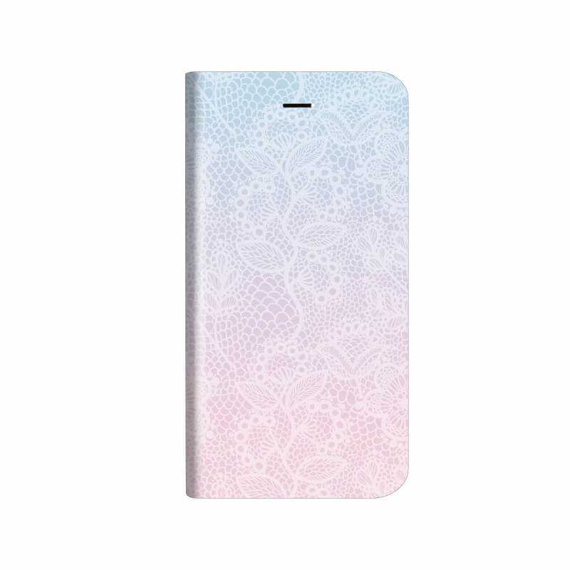 iPhone X 薄型デザインPUレザーケース「Design+」 Flower レース