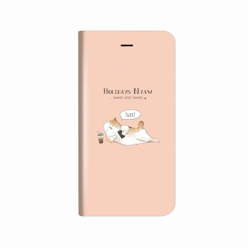 iPhone X 薄型デザインPUレザーケース「Design+」 HOLIDAYS NYAW