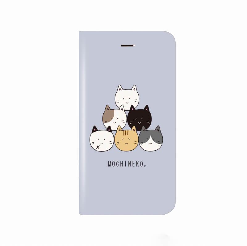 iPhone X 薄型デザインPUレザーケース「Design+」 もちねこ
