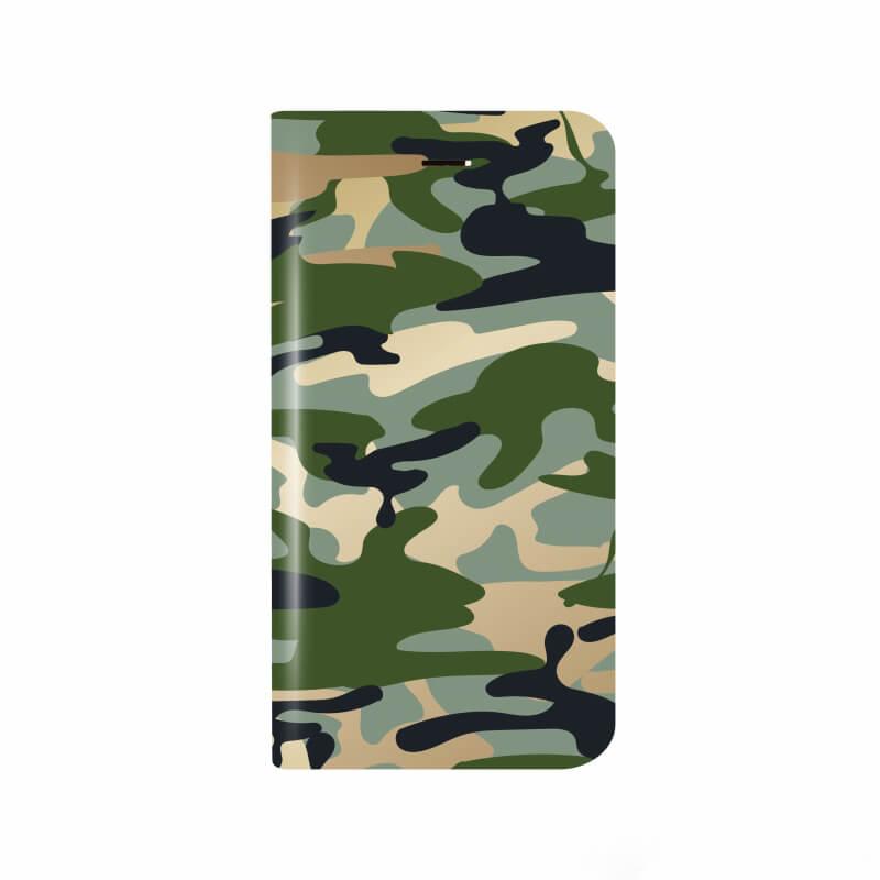 iPhone X 薄型デザインPUレザーケース「Design+」 カモフラージュ
