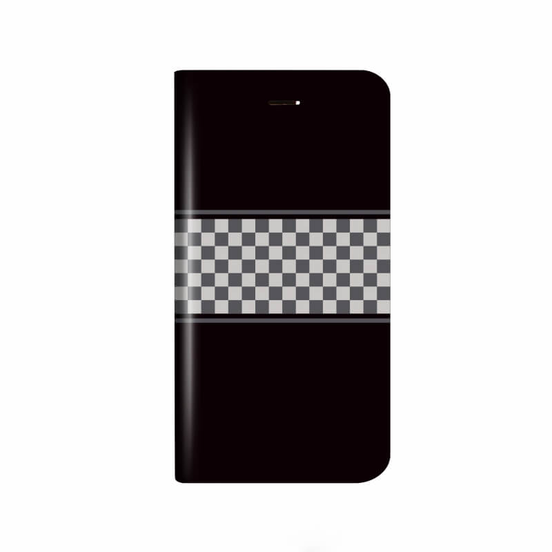 iPhone X 薄型デザインPUレザーケース「Design+」 CHESS