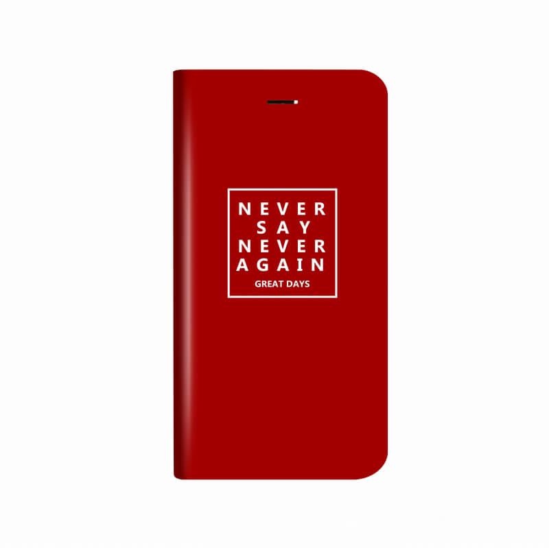 iPhone X 薄型デザインPUレザーケース「Design+」 NEVER
