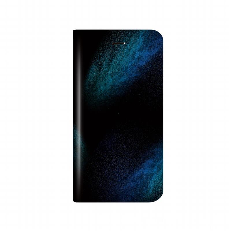 iPhone X 薄型デザインPUレザーケース「Design+」 宇宙