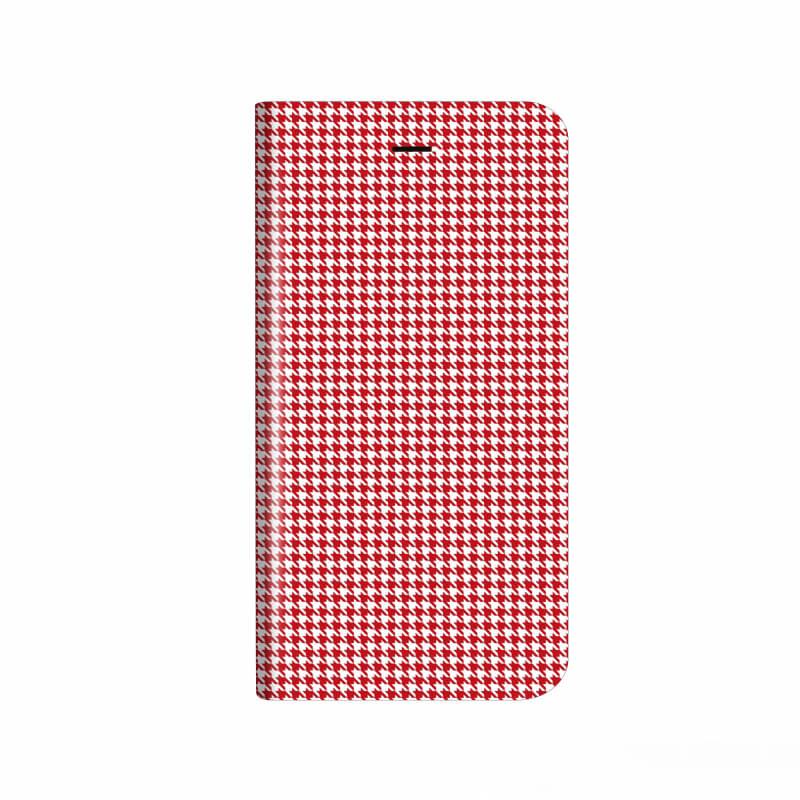 iPhone X 薄型デザインPUレザーケース「Design+」 千鳥