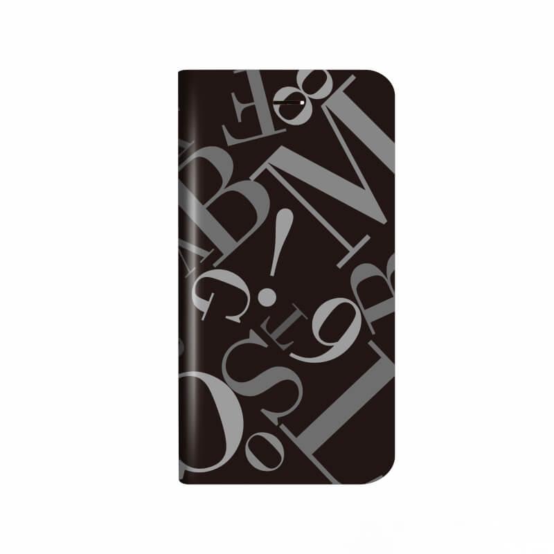 iPhone X 薄型デザインPUレザーケース「Design+」 タイポグラフィ