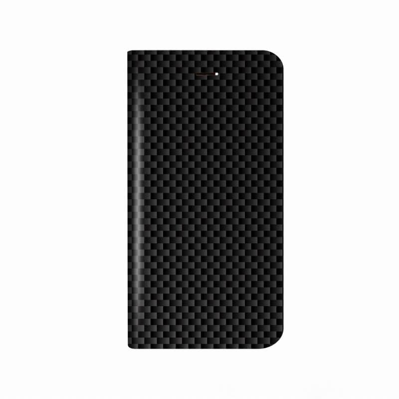 iPhone X 薄型デザインPUレザーケース「Design+」 カーボン