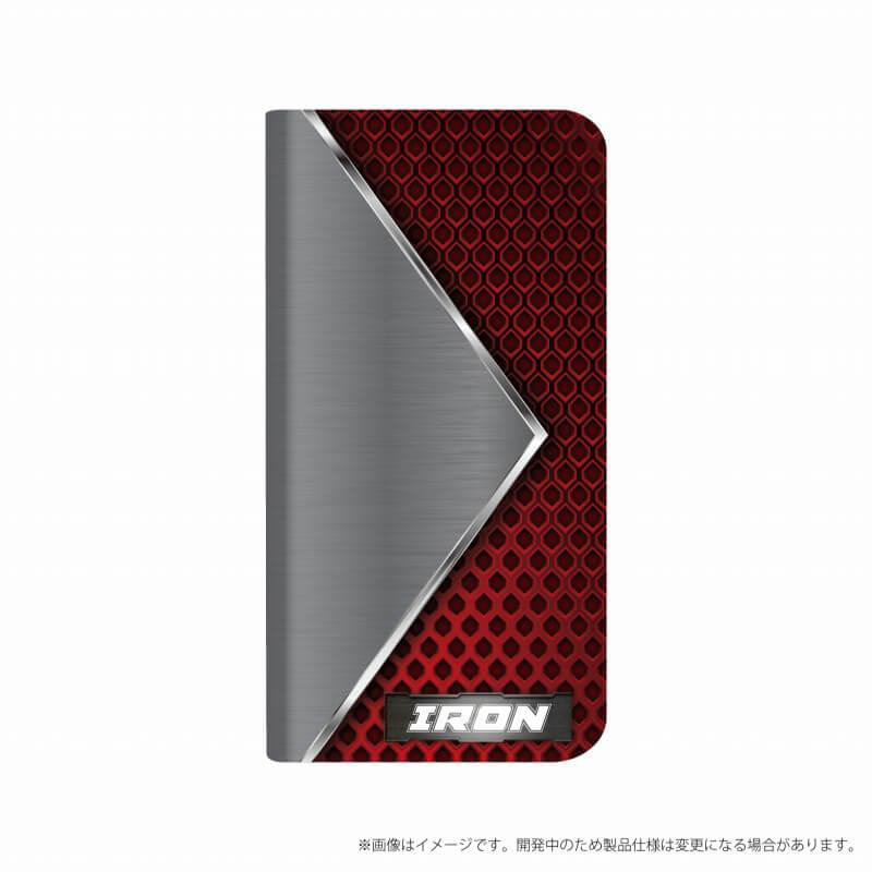 Xperia(TM) XZ1 SO-01K/SOV36/SoftBank 薄型デザインPUレザーケース「Design+」 IRON
