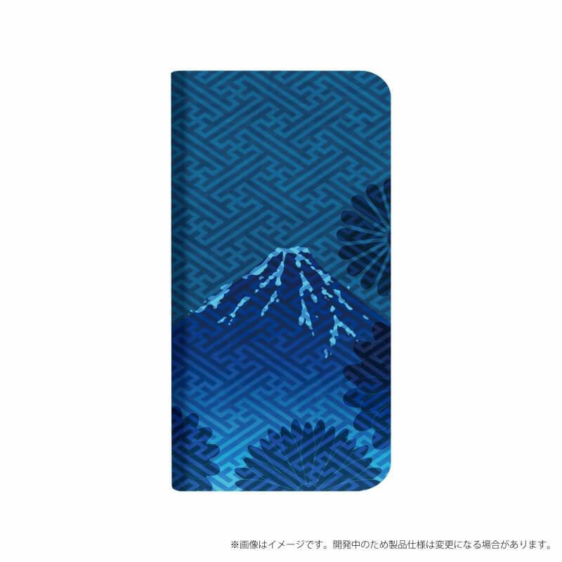 AQUOS R compact SHV41/SoftBank 薄型デザインPUレザーケース「Design+」 藍染