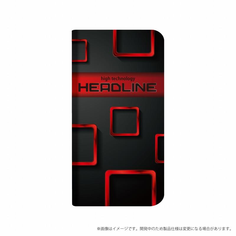 AQUOS R compact SHV41/SoftBank 薄型デザインPUレザーケース「Design+」 HEADLINE