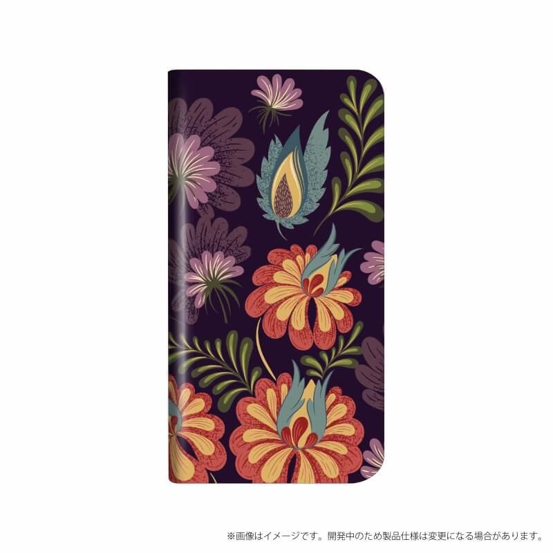 arrows NX F-01K 薄型デザインPUレザーケース「Design+」 Flower アート