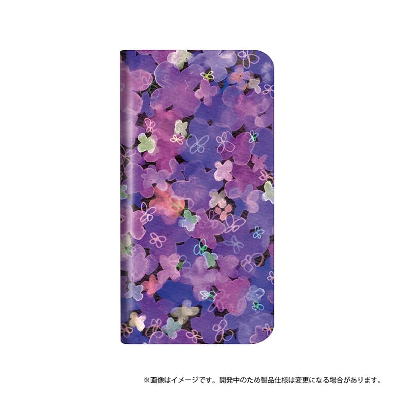 Xperia(TM) XZ2 SO-03K/SOV37/SoftBank 薄型デザインPUレザーケース「Design+」 Flower パープル
