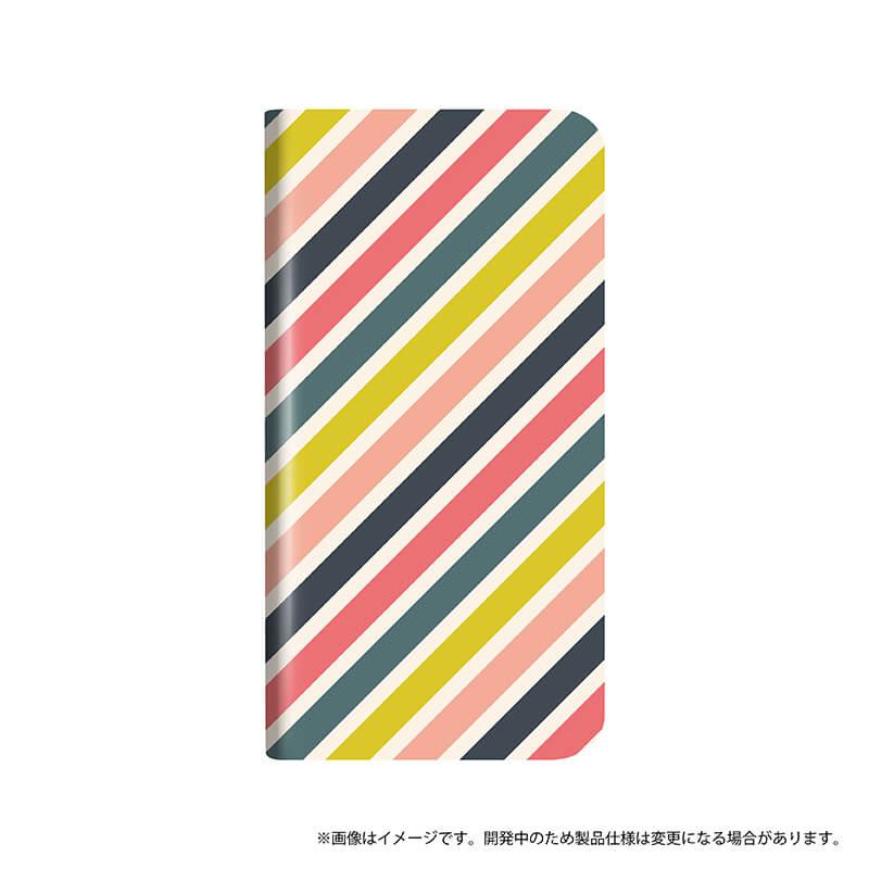 シンプルスマホ4 薄型デザインPUレザーケース「Design+」 HONEY STRAIGHT