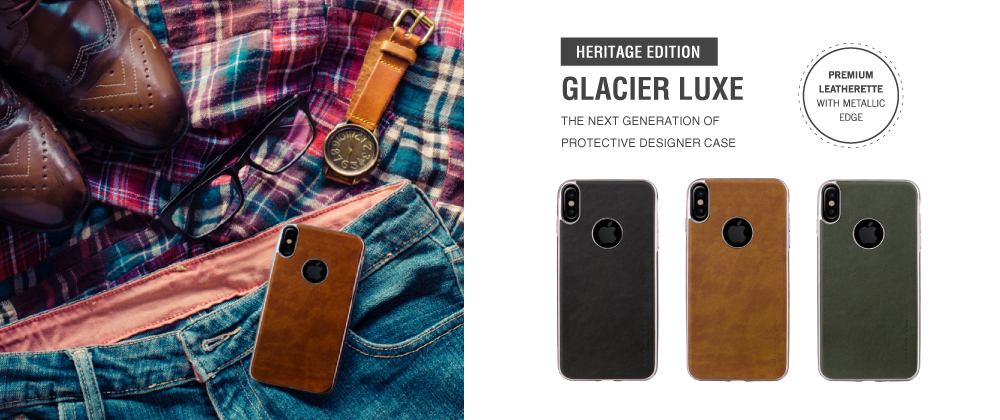 iPhone X/シェル型ケース/ソフトPU/Glacier Luxe Heritage