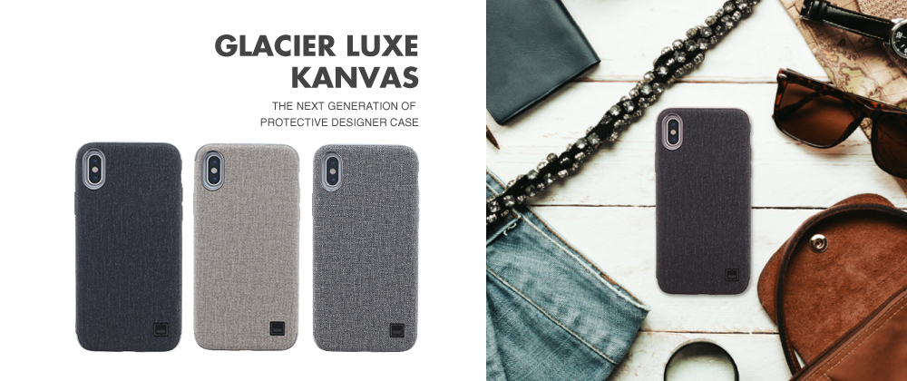 iPhone X/シェル型ケース/メタルソフトPU/Glacier Luxe Kanvas