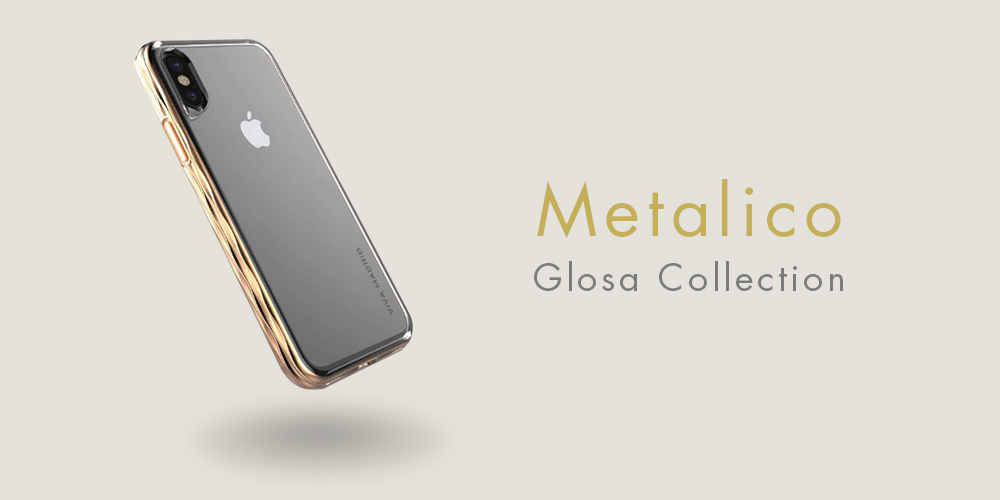 iPhone X/シェル型ケース/タフメタル/Metalico Glosa Collection