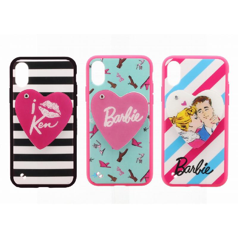 iPhone XS/iPhone X Barbie Design/スライド式ハートミラー付ハイブリットケース